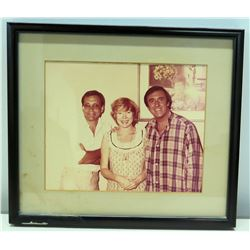 Framed Photograph of Jim Nabors and Friends