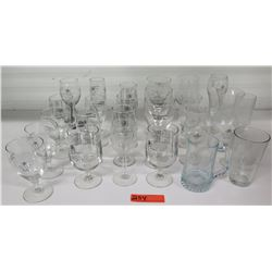 Qty 25 Misc. Indianapolis Speedway Drinking Glasses