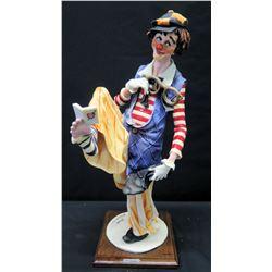 "G. Armani Clown Figurine, Signed, Approx. 17"" H, 1987"