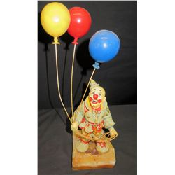 Clown w/ Balloons on Natural Stone Base, Signed by Artist Ron Lee