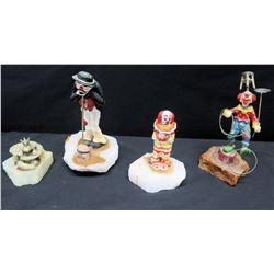 4 Pieces: Circus Clowns & Frog Prince by Ron Lee (one broken)