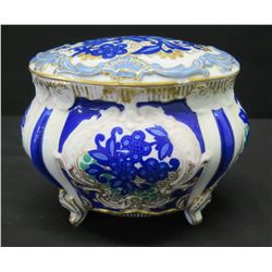 Rosenthal Glazed Painted Porcelain Bowl w/ Lid (chipped on rim of lid)