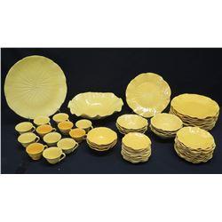 Yellow Dishware Set: Salad & Dinner Plates, Bowls, Cups, Serving Bowl, Platter