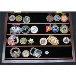 Qty 21 Misc. U.S. Armed Forces, Jim Nabors & Commemorative Metals/Badges
