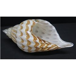 Blown Glass Decorative Conch Shell