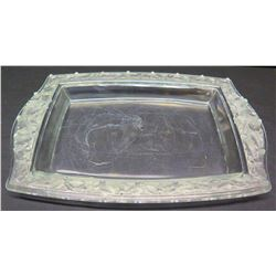 Glass Platter with Raised Border