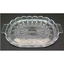 Glass Platter with Scalloped Edges