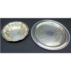 2 Round Serving Platters