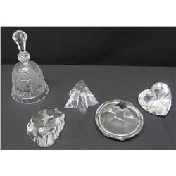 Crystal Bell & Misc. Glass/Crystal Objets d'Art