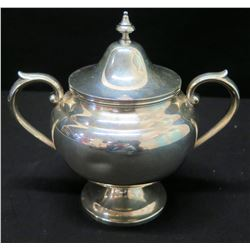 """Compote with Lid & Handles, Marked """"Gorham Sterling 453"""""""