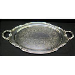 "Reed & Barton Serving Platter w/ Handles, Marked ""1820/22"""