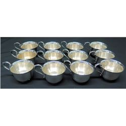 "Set of 12 Teacups, Marked ""Gorham YC790"""