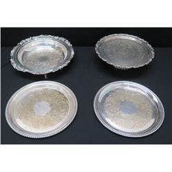 Qty 4 Serving Trays: Baroque by Wallace, WM Rogers, etc