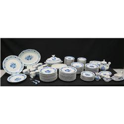 Large Set of Italian Blue & White China: Serveware, Dishware, Tureen, Tea/Coffee Serveware