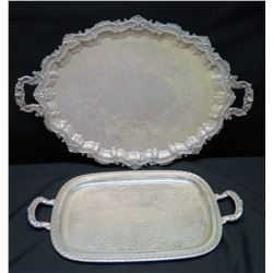 Qty 2 Large Serving Trays