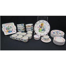 "Villeroy & Boch ""Le Cirque"" China Set: Bowls, Dinner Plates, Tray, Teacups & Saucers, etc."