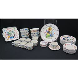 "Villeroy & Boch ""Le Cirque"" China Set: Bowls, Dinner Plates, Tray, Teacups & Saucers, etc."