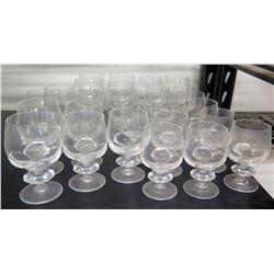Qty 27 Stemmed Beverage Glasses