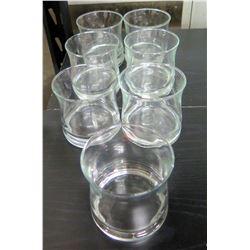 Qty 7 Beverage Glasses