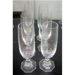 Qty 7 Champagne Glasses