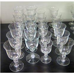 Approx. Qty 22 Stemmed Beverage Glasses