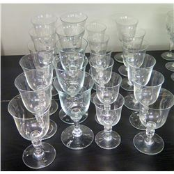 Approx. Qty 22 Stemmed Beverage Glasses