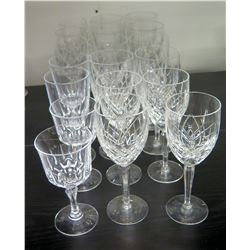 Approx. Qty 18 Stemmed Crystal Wine Glasses