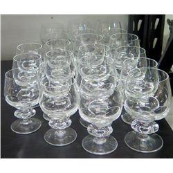 Qty 21 Stemmed Beverage Glasses