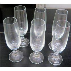 Qty 6 Champagne Glasses