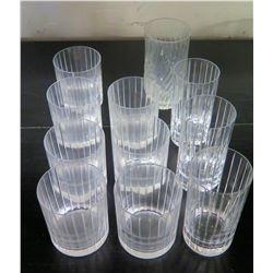 Qty 11 Beverage Glasses
