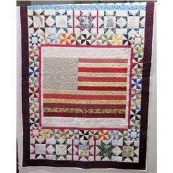 """Large Quilt: Jim Nabors Biography Commemorating Lifetime Achievements w/ Captions 92"""" x 63"""""""