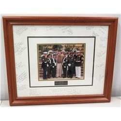 Framed Jim Nabors USMC Gratitude Photograph w/ Multiple Signatures, USPACOM 2007
