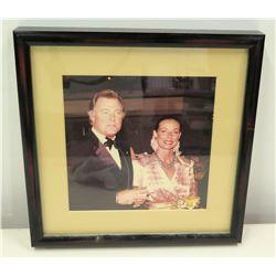 Framed Photograph of Jim Nabors with Richard Burton