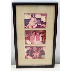 Framed Photograph: Jim Nabors w/ Florence Henderson, Doris Duke & Other Celebrities