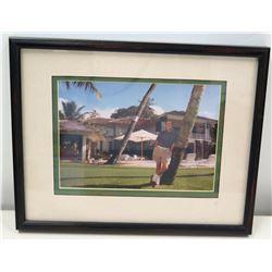 Framed Photograph of Jim Nabors at Diamond Head Home, 1993