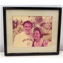 Framed Photograph of Jim Nabors & Female Friend