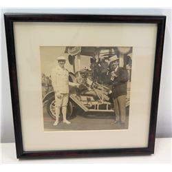 Black & White Photograph of Jim Nabors, Bugatti