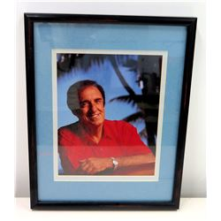 Framed Photograph of Jim Nabors, 1993 by Will Crockett