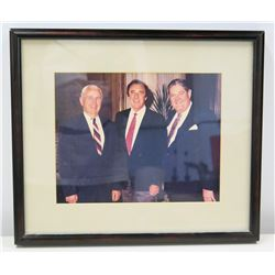 Framed Photograph of Jim Nabors & 2 Male Friends from Alabama