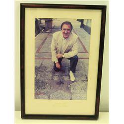 Framed Photograph of Jim Nabors, Birmingham AL, 1989