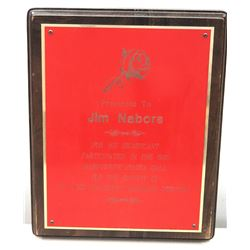 1990 St. Jude Research Hospital Appreciation Plaque Issued to Jim Nabors