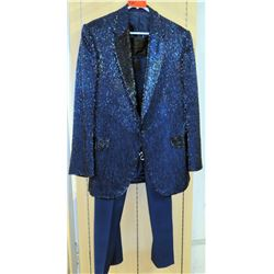 Blue Beaded Suit Jacket, Stage Costume Worn by Jim Nabors