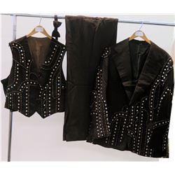 Brown 3-Piece Jim Nabors Stage Costume w/ Rhinestone Embellishments