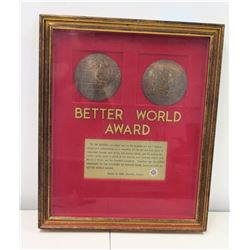 Better World' Award Presented to Jim Nabors by Ladies Auxiliary to the Veterans of Foreign Wars, 198