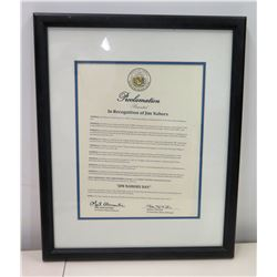 State of Hawaii Governor's Proclamation of 'Jim Nabors Day' 2014