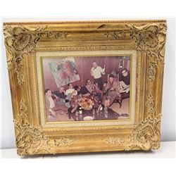 """Framed Photograph, Friends of Jim Nabors 22"""" x 20"""" (in the picture is the John Young painting in Lot"""