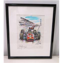Framed Signed Art, Mecom Hill, Indianapolis 500 (Ltd. Ed. 1 of 24)