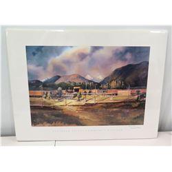 Framed Signed Art, Flathead Valley Community College, (Ltd. Ed. 25 of 1000), Artist Marsha Davis