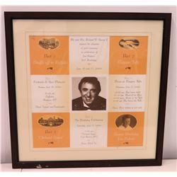Framed Jim Nabors 70th Birthday Celebration, June 16, 2000, Buffalo & Niagara Falls