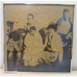Framed Black & White Photograph, Unknown Persons